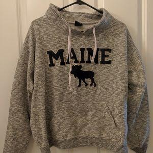 Tops - Maine Pullover Moose Sweatshirt